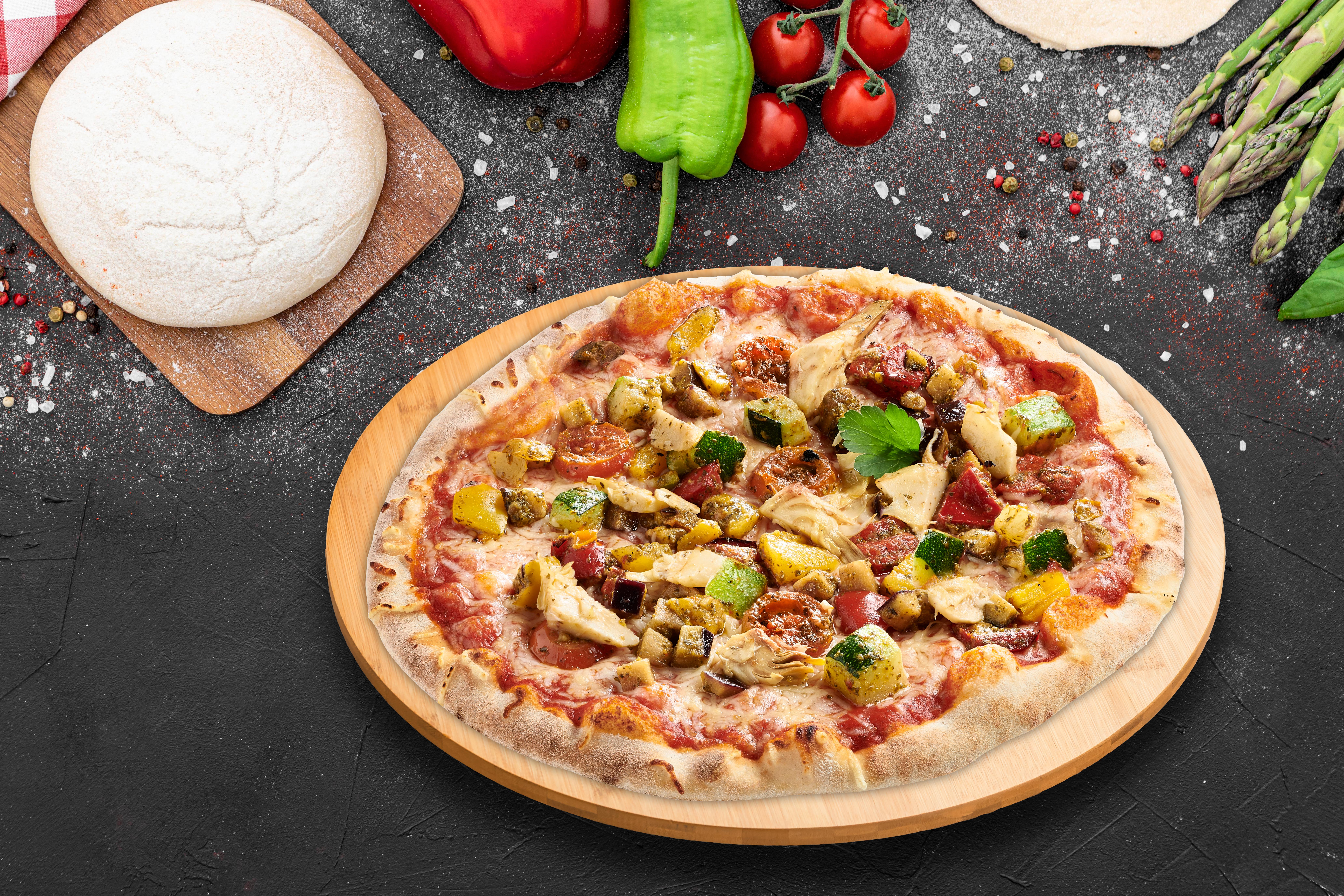 bières & vins du monde pizza 6 légumes