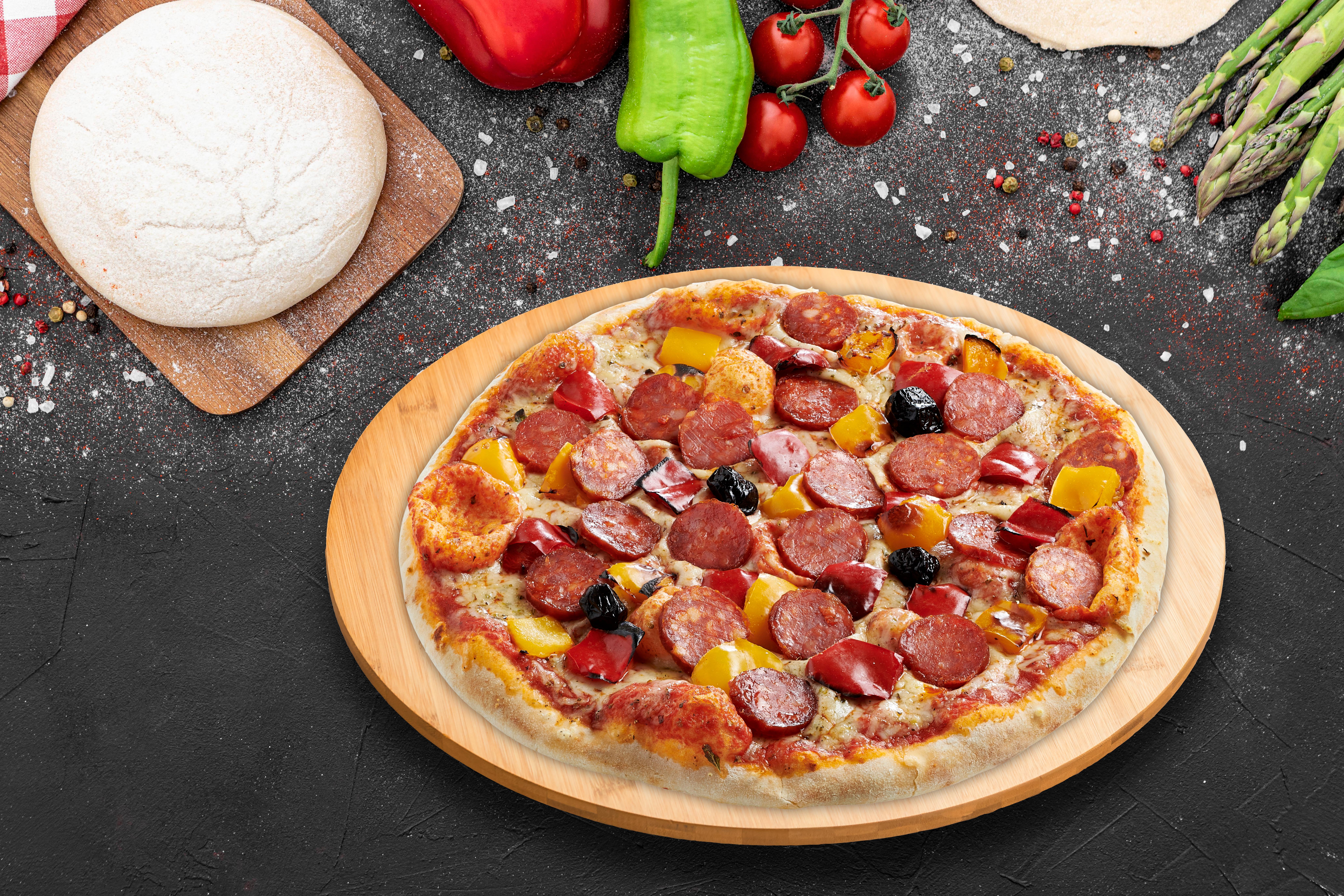 bières & vins du monde pizza chorizo